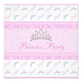 Fête d'anniversaire mignonne de princesse Tiaras Invitations