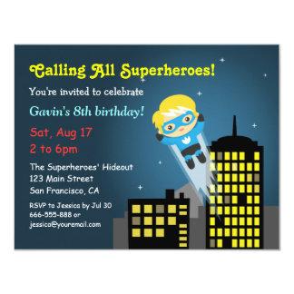 Fête d'anniversaire mignonne de super héros de vol bristols