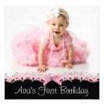 Fête d'anniversaire rose et noire de photo de bristol