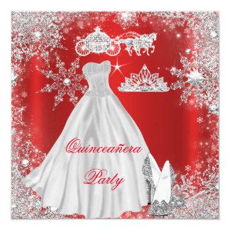 Fête d'anniversaire rouge majestueuse de carton d'invitation  13,33 cm