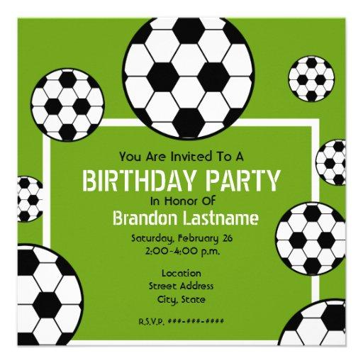 Fête d'anniversaire - terrain de football et ballo bristols personnalisés