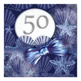 fête d'anniversaire tropicale de cinquantième carton d'invitation  13,33 cm