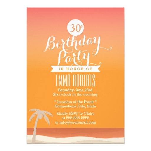 Fête d'anniversaire tropicale de thème de plage d' bristol personnalisé