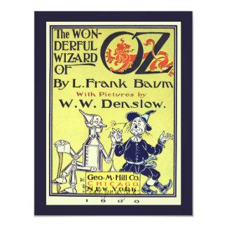 Fête d'anniversaire vintage d'art de couverture de carton d'invitation 10,79 cm x 13,97 cm