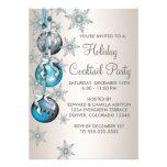 Fête de Noël bleue turquoise d'ornements de flocon Bristols