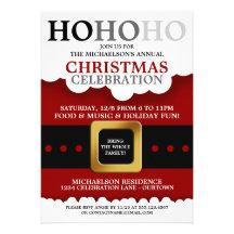 Fête de Noël de costume de Père Noël Invitations Personnalisées
