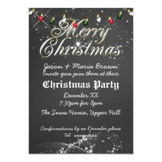 Fête de Noël multi de tableau vintage Carton D'invitation 12,7 Cm X 17,78 Cm