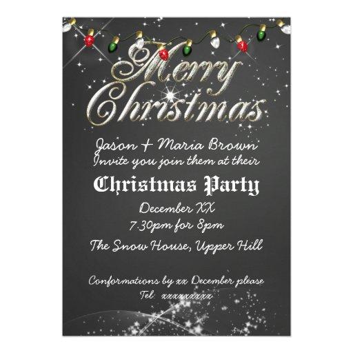 Fête de Noël multi de tableau vintage Cartons D'invitation