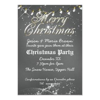 Fête de Noël poussiéreuse vintage de blanc de Carton D'invitation 12,7 Cm X 17,78 Cm