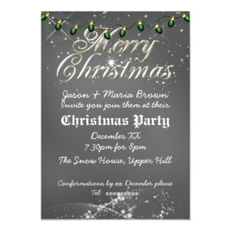 Fête de Noël poussiéreuse vintage de vert de Carton D'invitation 12,7 Cm X 17,78 Cm