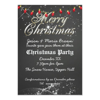 Fête de Noël vintage de rouge de tableau Carton D'invitation 12,7 Cm X 17,78 Cm