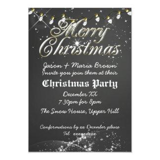 Fête de Noël vintage de tableau Carton D'invitation 12,7 Cm X 17,78 Cm