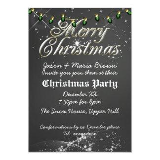Fête de Noël vintage de vert de tableau Carton D'invitation 12,7 Cm X 17,78 Cm