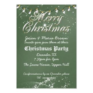 Fête de Noël vintage verte de blanc de tableau Bristol Personnalisé