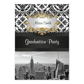 Fête de remise des diplômes de damassé de la carton d'invitation  12,7 cm x 17,78 cm