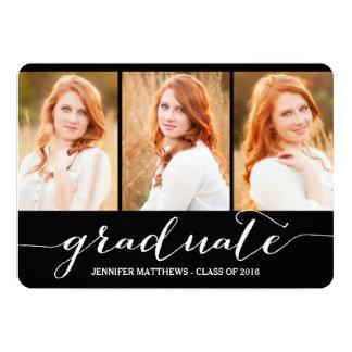Fête de remise des diplômes licenciée du collage | carton d'invitation  12,7 cm x 17,78 cm