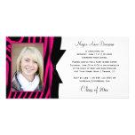 Fête de remise des diplômes noire de photo d'impre cartes de vœux avec photo