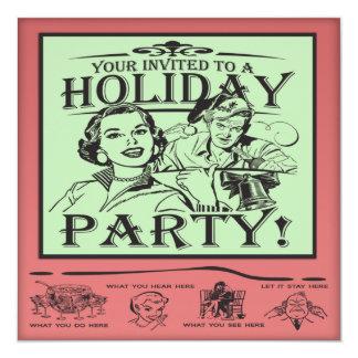 Fête de vacances de Noël Carton D'invitation 13,33 Cm
