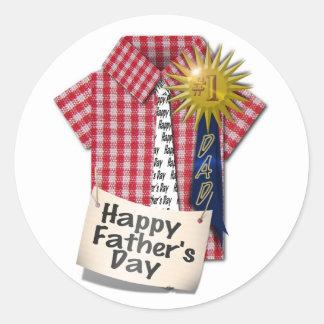 Fête des pères heureuse à mon papa #1 sticker rond