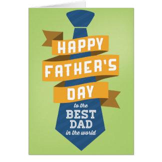 Fête des pères heureuse au meilleur papa au monde carte de vœux