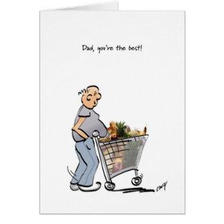 Fête des pères heureuse au meilleur papa ! carte de vœux