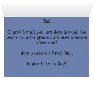 Fête des pères heureuse au meilleur papa, jamais ! carte de vœux