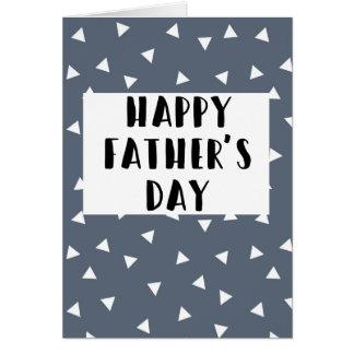 Fête des pères heureuse - carte de motif bleue de