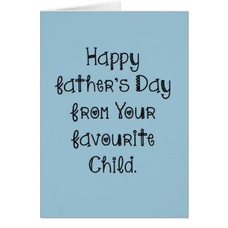 Fête des pères heureuse de votre carte préférée