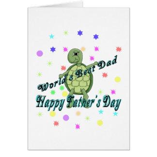 Fête des pères heureuse du meilleur papa du monde cartes