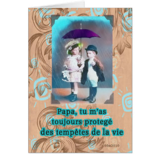 fête des pères heureuse française carte de vœux