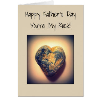 Fête des pères heureuse, vous êtes ma roche carte de vœux