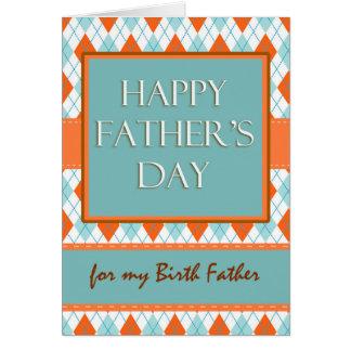 Fête des pères pour le papa de naissance, carte de vœux