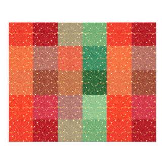 Feu d'artifice coloré de rétro carré de cru de Mul Prospectus