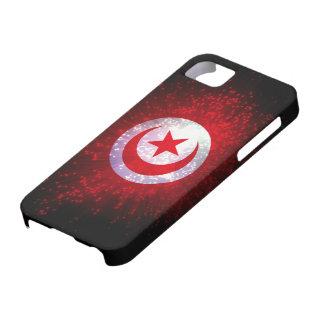 Feu d'artifice de drapeau de la Tunisie Coque iPhone 5 Case-Mate