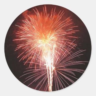 Feu d'artifice pour le nouvel an - adhésifs