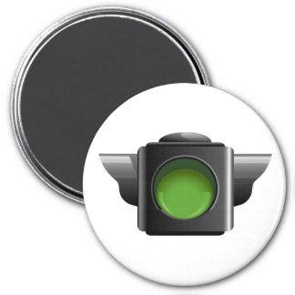 Feu de signalisation vert pour la gestion de salle magnet rond 7,50 cm