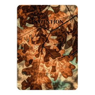 feuillage d'automne d'orange de feuille d'automne carton d'invitation  12,7 cm x 17,78 cm