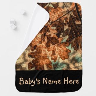 feuillage d'automne d'orange de feuille d'automne couverture pour bébé