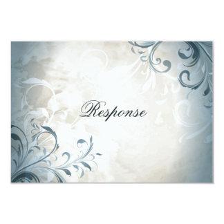 Feuillage vintage élégant et remous du mariage carton d'invitation 8,89 cm x 12,70 cm