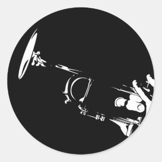 Feuille abstraite d autocollant de trompette de ja