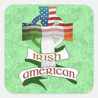 Feuille américaine irlandaise d'autocollant de sticker carré