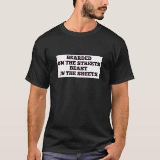 Feuille barbue de bête de rue de Noël hanoukka de T-shirt