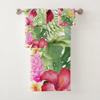 Feuille botanique floral tropical coloré lumineux
