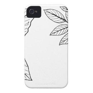Feuille botanique vintage coque iPhone 4