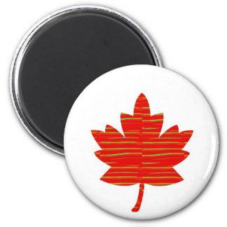 FEUILLE d ÉRABLE canadienne fière Rouge ÉNERGIQU Aimants Pour Réfrigérateur