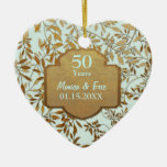 Feuille d'anniversaire de mariage d'or cinquantièm
