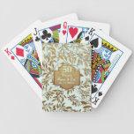 Feuille d'anniversaire de mariage d'or cinquantièm cartes de poker