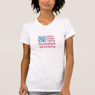 Feuille d'Aspen et pièce en t de drapeau de T-shirt