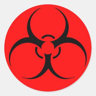 Feuille d'autocollants de biohazard sticker rond