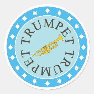 Feuille d'autocollants de trompette de 6 sticker rond